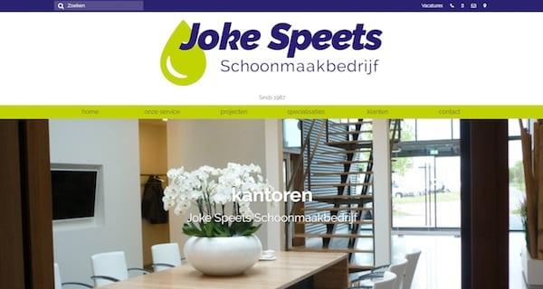 Website Schoonmaakbedrijf Joke Speets