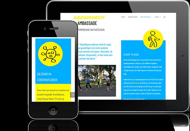 website gezondheidsambassade mobiel
